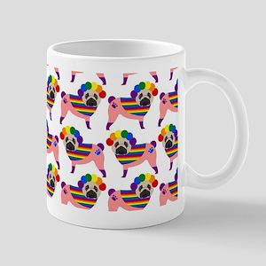 Gay Pride Pugs Mug