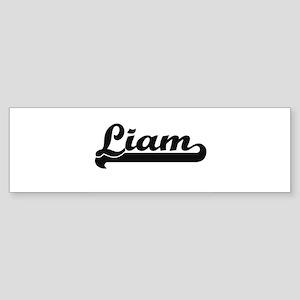 Liam Classic Retro Name Design Bumper Sticker