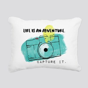 Capture Life Rectangular Canvas Pillow