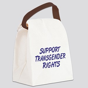 Support Transgender Rights Canvas Lunch Bag