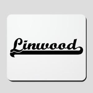 Linwood Classic Retro Name Design Mousepad