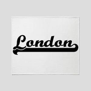 London Classic Retro Name Design Throw Blanket