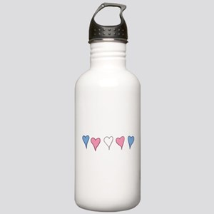 Transgender Pride Hearts Water Bottle