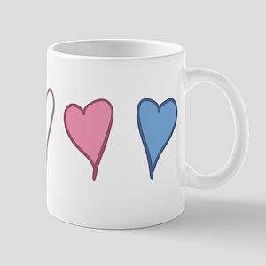 Transgender Pride Hearts Mugs