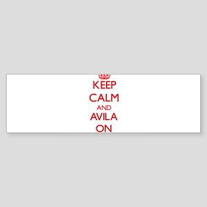Keep Calm and Avila ON Bumper Sticker