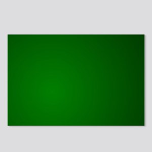 Hunter Green gradient Postcards (Package of 8)