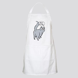 Blue Persian Tail Talk BBQ Apron