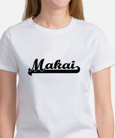 Makai Classic Retro Name Design T-Shirt