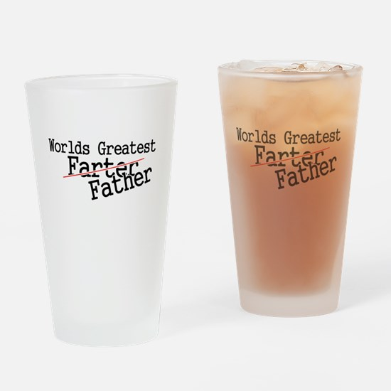 Funny Fathers day Drinking Glass