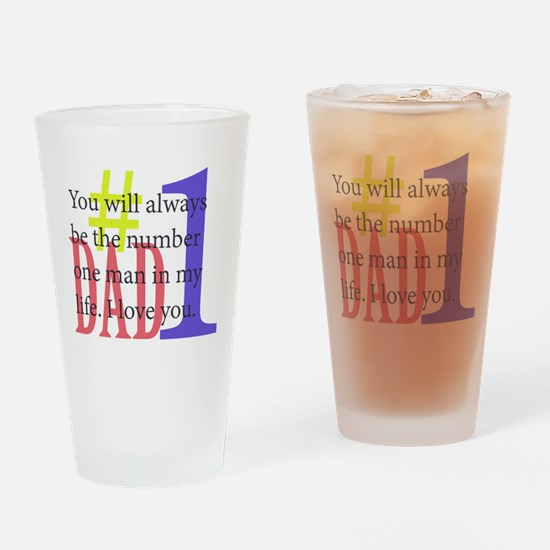 #1 Dad Drinking Glass