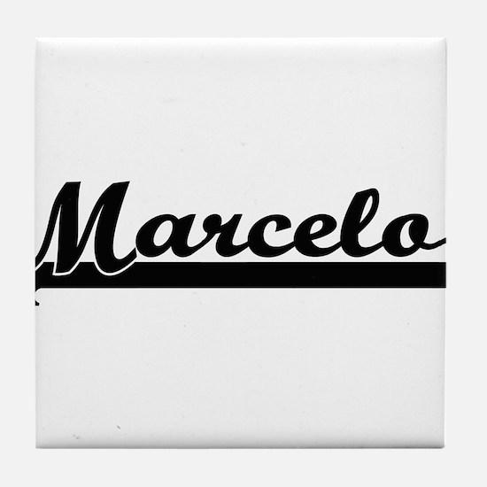 Marcelo Classic Retro Name Design Tile Coaster