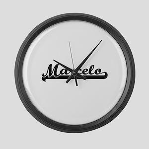 Marcelo Classic Retro Name Design Large Wall Clock