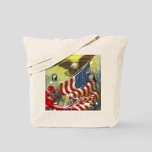 Vintage patriotic theme Tote Bag