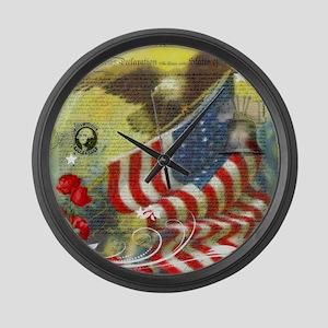 Vintage patriotic theme Large Wall Clock