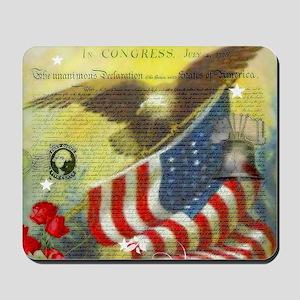 Vintage patriotic theme Mousepad