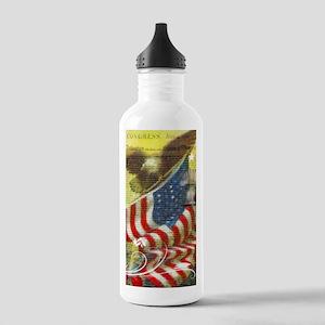 Vintage patriotic them Stainless Water Bottle 1.0L