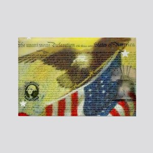 Vintage patriotic theme Magnets