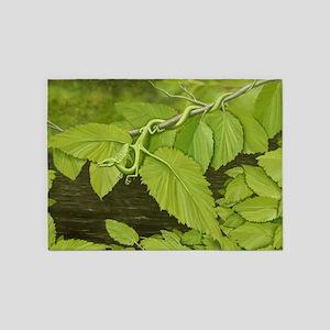 Earth Leaf Dragon 5'x7'Area Rug