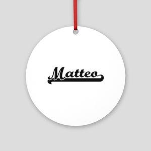 Matteo Classic Retro Name Design Ornament (Round)
