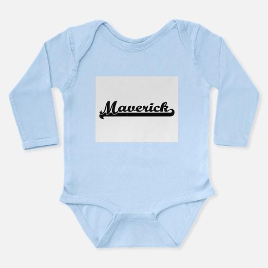 Maverick Classic Retro Name Design Body Suit