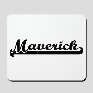 Maverick Classic Retro Name Design Mousepad