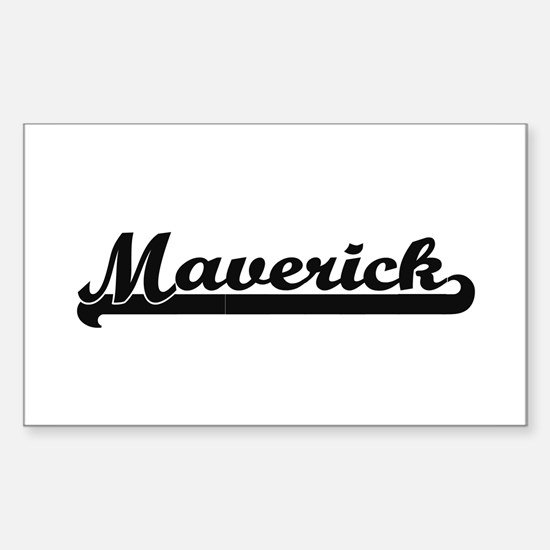 Maverick Classic Retro Name Design Decal