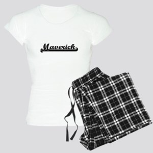 Maverick Classic Retro Name Women's Light Pajamas