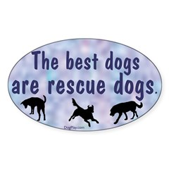 Best Dogs (Blue) Oval Decal