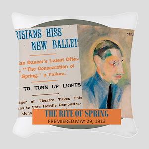 The Rite of Spring Woven Throw Pillow