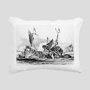 Vintage kraken octopus s Rectangular Canvas Pillow
