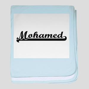 Mohamed Classic Retro Name Design baby blanket