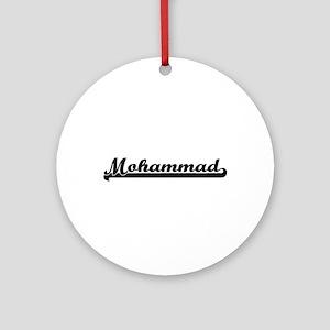 Mohammad Classic Retro Name Desig Ornament (Round)