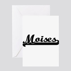 Moises Classic Retro Name Design Greeting Cards