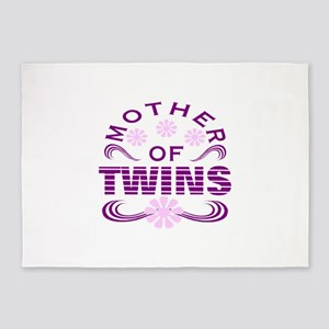 Twins mom 5'x7'Area Rug