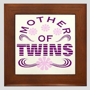 Twins mom Framed Tile
