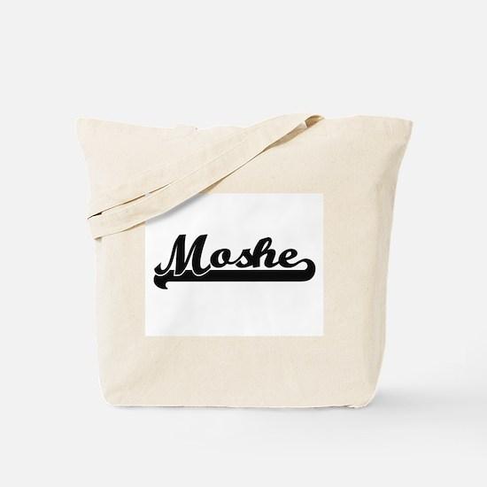 Moshe Classic Retro Name Design Tote Bag