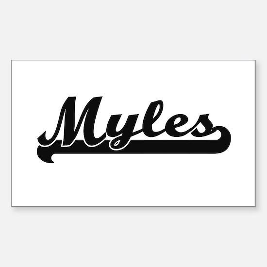Myles Classic Retro Name Design Decal