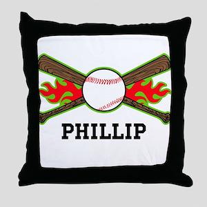 Baseball (p) Throw Pillow