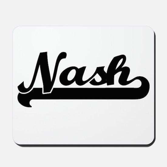 Nash Classic Retro Name Design Mousepad