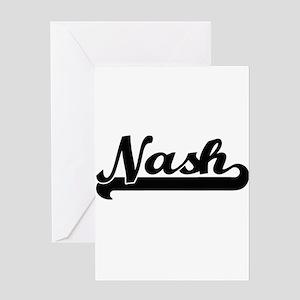 Nash Classic Retro Name Design Greeting Cards