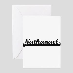 Nathanael Classic Retro Name Design Greeting Cards