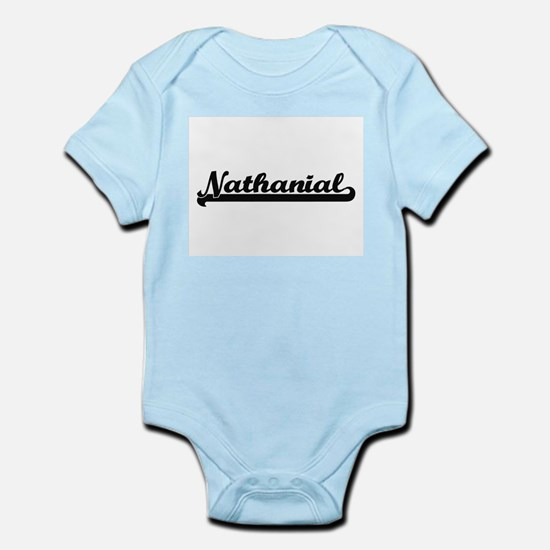Nathanial Classic Retro Name Design Body Suit