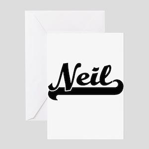 Neil Classic Retro Name Design Greeting Cards