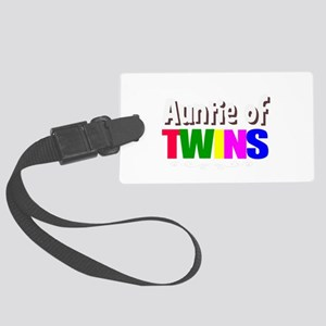 auntie twins Large Luggage Tag