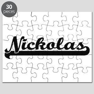 Nickolas Classic Retro Name Design Puzzle