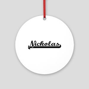 Nickolas Classic Retro Name Desig Ornament (Round)