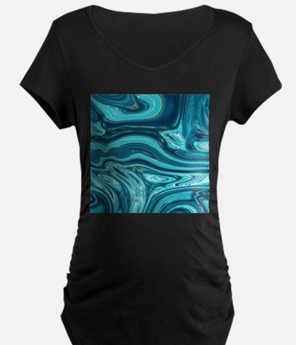 summer beach turquoise waves Maternity T-Shirt