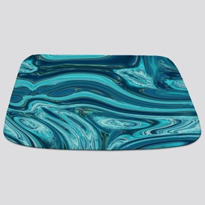 summer beach turquoise waves Bathmat