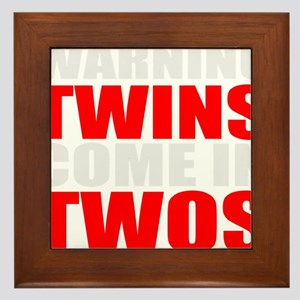twins funny Framed Tile