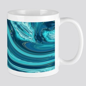 summer beach turquoise waves Mugs